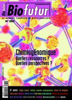 Couverture de l'ouvrage Biofutur N° 260: Chimiogénomique. Quelles ressources ? Quelles perspectives?