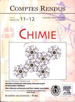 Couverture de l'ouvrage Comptes rendus Académie des sciences, Chimie, tome 8, fasc 11-12, novembre décembre 2005 : nouvelles architectures moléculaires construites...