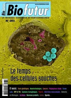 Couverture de l'ouvrage Biofutur N° 263 : le temps des cellules souches