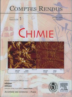 Couverture de l'ouvrage Comptes rendus Académie des sciences, Chimie, tome 9, fasc 1, Janvier 2006 : adhésion / Adhesion