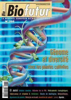 Couverture de l'ouvrage Biofutur N° 266 : génome et diversité chez les plantes cultivées