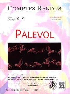 Couverture de l'ouvrage Comptes rendus Académie des sciences, Palevol, tome 5, fasc 3-4, avril-mai 2006 : cent ans après Marey : aspects de la morphologie fonctionnelle ...