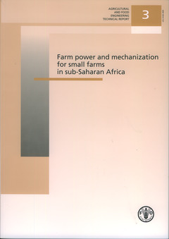 Couverture de l'ouvrage Farm power and mechanization for small farms in sub-Saharan Africa