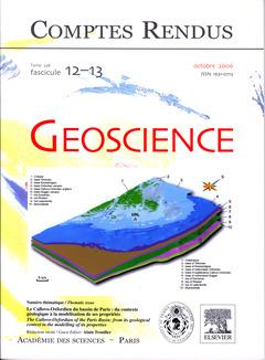 Couverture de l'ouvrage Comptes rendus Académie des sciences, Géoscience, tome 338, fasc 12-13, Oct 2006 : le Callovo-Oxfordien du bassin de Paris ...