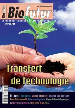 Couverture de l'ouvrage Biofutur N° 278 : Transfert de technologie