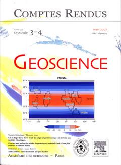 Couverture de l'ouvrage Comptes rendus Académie des sciences, Géoscience, tome 339, fasc 3-4, mars 2007 : gel et dégel de la Terre boule de neige néoprotérozoïque...