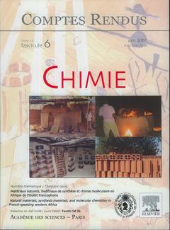 Couverture de l'ouvrage Comptes rendus Académie des sciences, Chimie, tome 10, fasc 6, juin 2007 : matériaux naturels, matériaux de synthèse et chimie moléculaire...