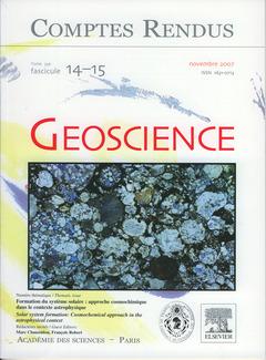 Couverture de l'ouvrage Comptes rendus Académie des sciences, Géoscience, tome 339, fasc 14-15, novembre 2007 : formation du système solaire... (Bilingue)