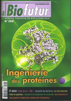 Couverture de l'ouvrage Biofutur N° 288 : ingénierie des protéines (Mai 2008)