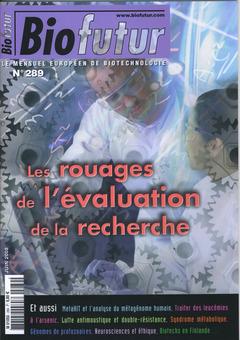 Couverture de l'ouvrage Biofutur N° 289 : les rouages de l'évaluation de la recherche (Juin 2008)