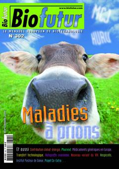 Couverture de l'ouvrage Biofutur N° 302 : Maladies à prions (Septembre 2009)