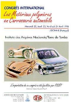 Couverture de l'ouvrage Les matériaux polymères en carrosserie automobile (congrès international 22/24 avril 1998 Lisbonne)