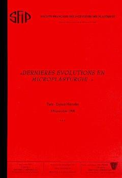 Couverture de l'ouvrage Dernières évolutions en microplasturgie (Paris Espace Hamelin 3 Novembre 1998)