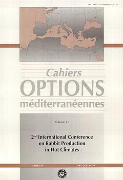 Couverture de l'ouvrage 2nd International conference on Rabbit production in hot climate (Cahiers Options méditerranéennes Vol.41 1999)