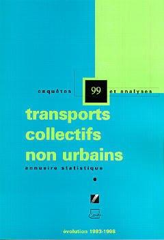 Couverture de l'ouvrage Annuaire statistique 99 : transports collectifs non urbains Evolution 1993-1998