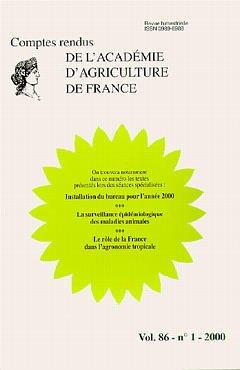 Couverture de l'ouvrage Installation du bureau pour l'année 2000 La surveillance épidémiologiques des maladies animales...(Comptes rendus de l'AAF Vol.86 N°1 2000)