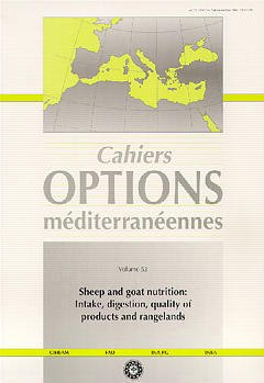 Couverture de l'ouvrage Sheep and goat nutrition : intake, digestion, quality of products and rangelands(Cahiers Options méditerranéennes Vol.52 2000)