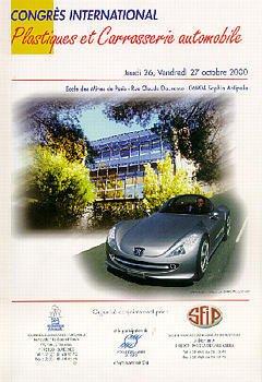 Couverture de l'ouvrage Plastiques et carrosserie automobile Congrès International 26-27 Octobre 2000 Sophia-Antipolis