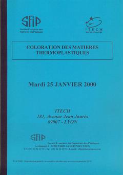 Couverture de l'ouvrage Coloration des matières thermoplastiques
