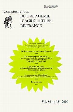 Couverture de l'ouvrage Défis et enjeux pour les vins français. Les angiospermes parasites : une menace pour les cultures vivrières ...(Comptes rendus de l'AAF Vol.86-n°8-2000)
