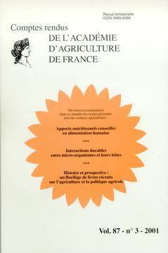 Couverture de l'ouvrage Apports nutritionnels conseillés en alimentation humaine. Interactions durables entre micro-organismes et leurs hôtes (Comptes rendus AAF Vol.87 n°3 2001)