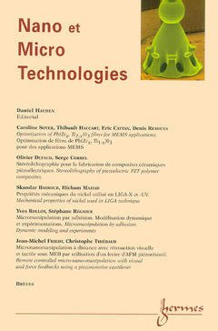 Couverture de l'ouvrage Nano et Micro Technologies Vol.1 N° 2/ 2000