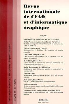 Couverture de l'ouvrage Revue internationale de CFAO et d'informatique graphique Vol.11 N° 4/1996
