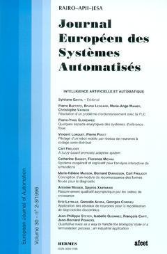 Couverture de l'ouvrage Journal Européen des Systèmes Automatisés Vol.30 N° 2-3/1996