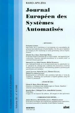 Couverture de l'ouvrage Journal Européen des Systèmes Automatisés Vol.30 N° 4/1996