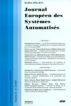 Couverture de l'ouvrage Journal Européen des Systèmes Automatisés Vol.31 N° 2/1997