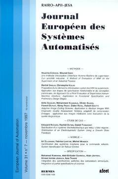 Couverture de l'ouvrage Journal Européen des Systèmes Automatisés Vol.31 N° 7/Novembre 1997