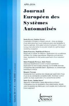 Couverture de l'ouvrage Journal Européen des Systèmes Automatisés Vol.34 N° 4/Mai 2000