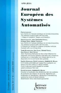 Couverture de l'ouvrage Journal Européen des Systèmes Automatisés Vol.34 N° 8/Octobre 2000