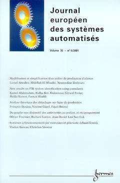 Couverture de l'ouvrage Journal Européen des Systèmes Automatisés Vol.35 N° 5/2001