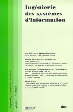 Couverture de l'ouvrage Ingénierie des systèmes d'information Vol.1 N° 2/1993