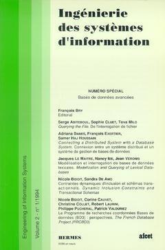 Couverture de l'ouvrage Ingénierie des systèmes d'information Vol.2 N° 1/1994