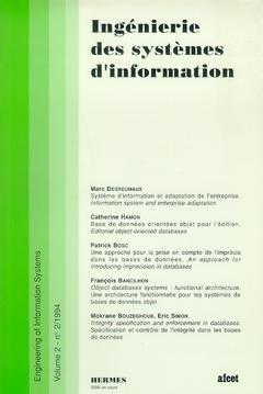 Couverture de l'ouvrage Ingénierie des systèmes d'information Vol.2 N° 2/1994