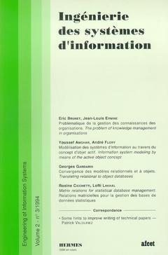 Couverture de l'ouvrage Ingénierie des systèmes d'information Vol.2 N° 3/1994