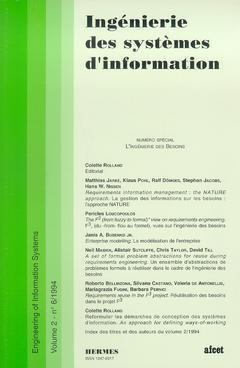 Couverture de l'ouvrage Ingénierie des systèmes d'information Vol.2 N° 6/1994