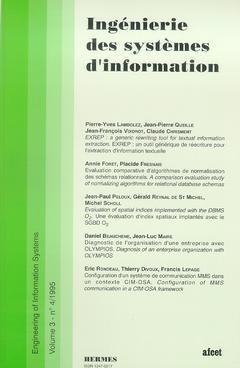 Couverture de l'ouvrage Ingénierie des systèmes d'information Vol.3 N° 4/1995