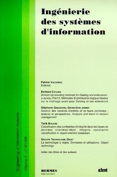 Couverture de l'ouvrage Ingénierie des systèmes d'information Vol.3 N° 6/1995
