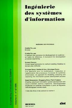 Couverture de l'ouvrage Ingénierie des systèmes d'information Vol.4 N° 6/1996