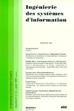 Couverture de l'ouvrage Ingénierie des systèmes d'information Vol.5 N° 3/Août 1997