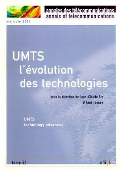 Couverture de l'ouvrage UMTS : l'évolution des technologies (Annales des Télécommunications Tome 56 N° 5/6 Mai-Juin 2001)