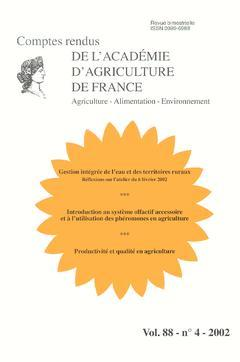 Couverture de l'ouvrage Gestion intégrée de l'eau et des territoires ruraux (Réflexions sur l'atelier du 6 février 2002)... (Comptes rendus de l'AAF Vol.88 N° 4-2002)
