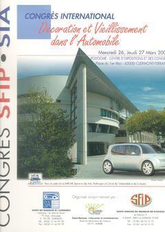 Couverture de l'ouvrage Décoration et vieillissement dans l'automobile (Congrès international 26, 27 Mars 2003 Clermont-Ferrand)