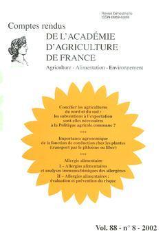 Couverture de l'ouvrage Concilier les agricultures du Nord et du Sud : les subventions à l'exportation sont-elles nécessaires à la PAC ... (Comptes rendus AAF Vol.88 n° 8-2002)
