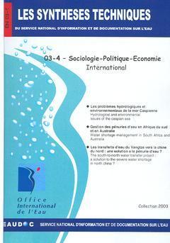 Couverture de l'ouvrage Sociologie-Politique-Economie-International (Les Synthèses techniques du Service National d'information et de Documentation sur l'eau, EN 03-4)