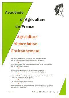 Couverture de l'ouvrage Comptes rendus de l'AAF Vol.89 N° 2 2003 le poids du capital foncier et ses conséquences sur la transmission des exploitations agricoles...