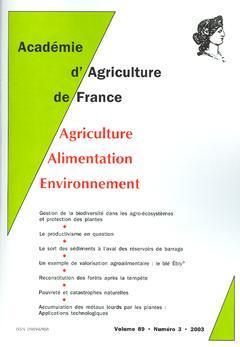 Couverture de l'ouvrage Comptes rendus de l'AAF Vol. 89 N° 3 2003 : gestion de la biodiversité dans les agro-écosystèmes et protection des plantes ...